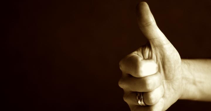 encouragement thumbs up