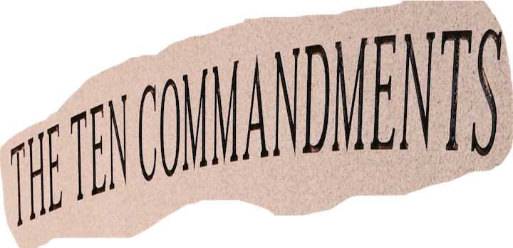 an overview of the ten commandments for the society The ten commandments that appear in this week's parsha have long held a  special place not only in judaism but also within the broader.